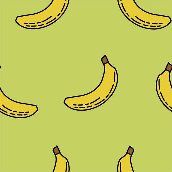Banana background pattern free. Bananas clipart vector