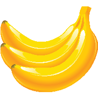 Bananas clipart yellow banana. Download free png photo