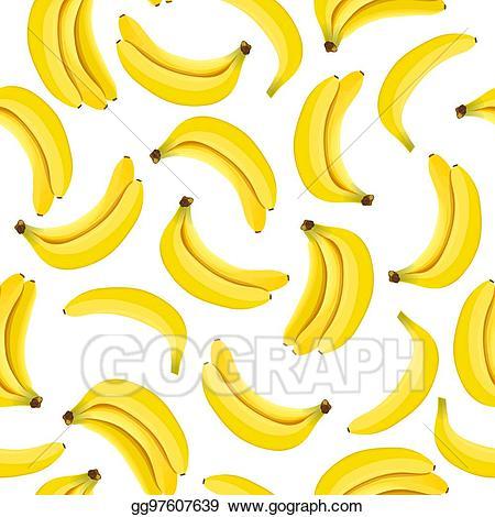 Bananas clipart yellow banana. Vector stock seamless pattern