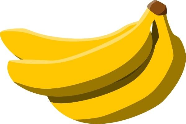 Clip art free vector. Bananas clipart yellow banana