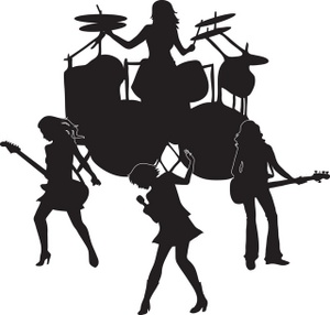 Rock . Band clipart