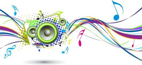 Free play from music. Band clipart abstract