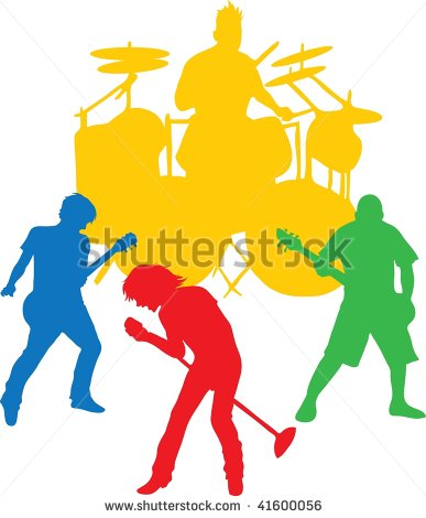 Rock clip art illustration. Band clipart abstract