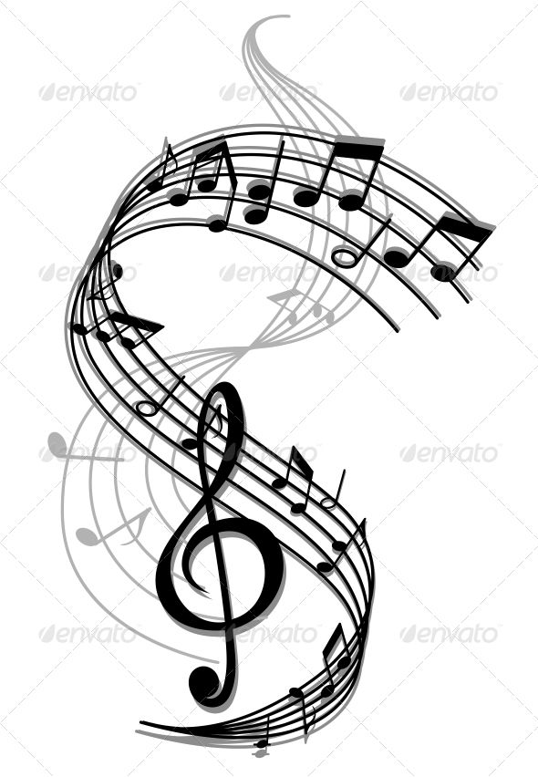 Art music background vector. Band clipart abstract