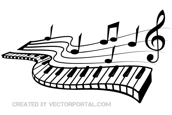 Image result for free. Piano clipart abstract