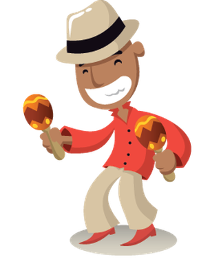 Salsa music the arts. Band clipart animated