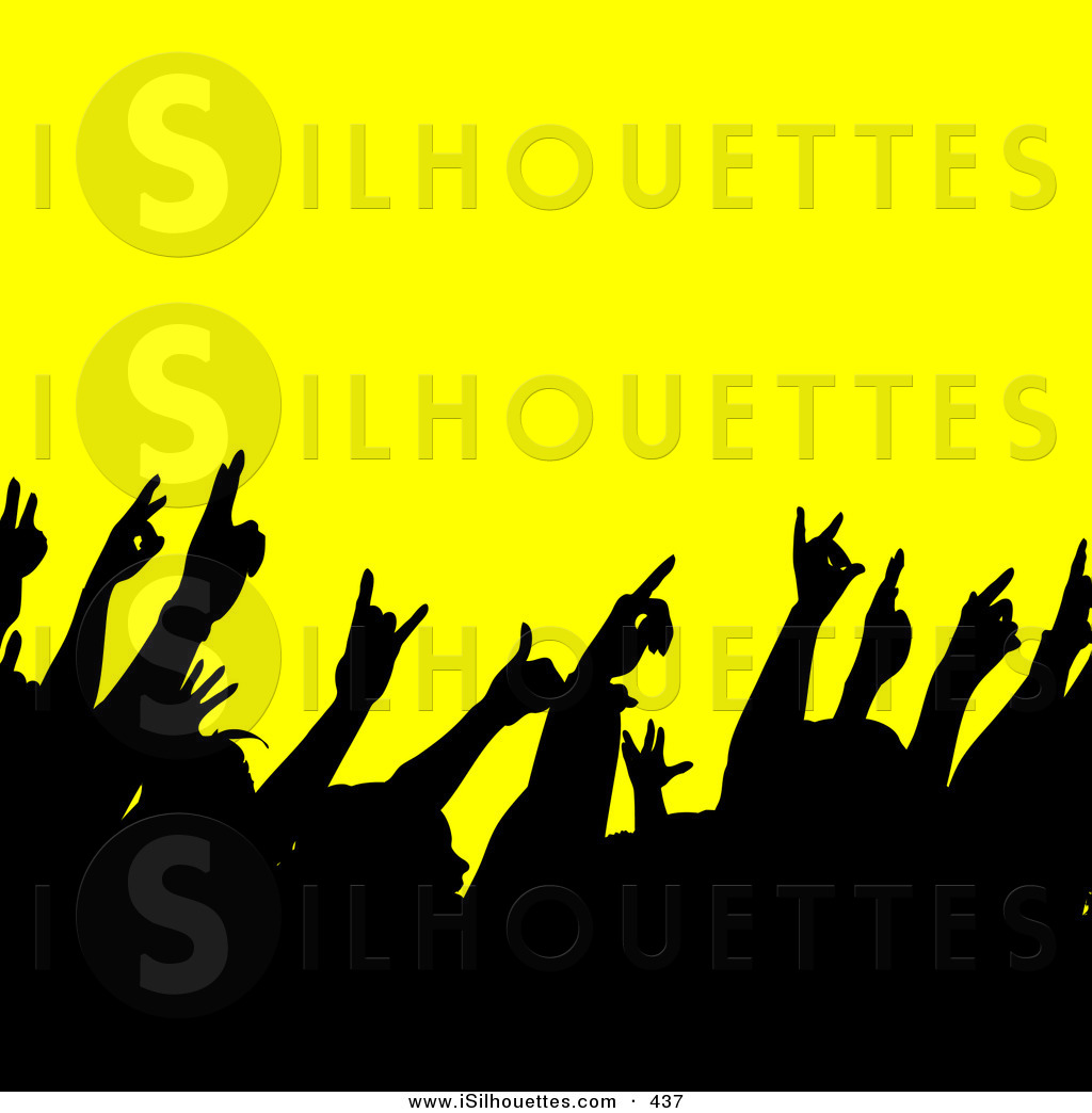 Silhouette of a black. Band clipart band air