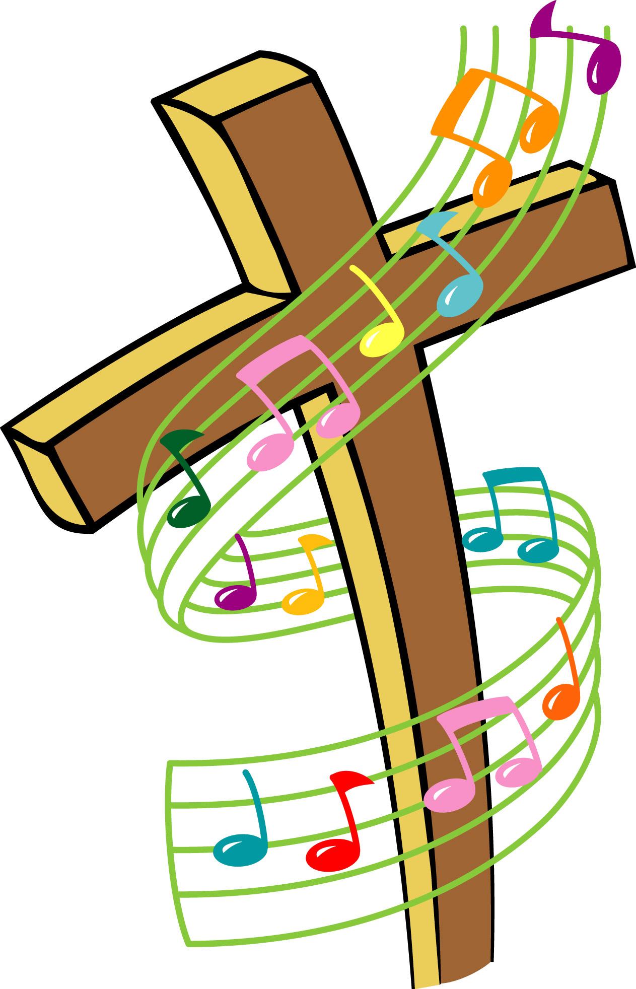 Church band clip art. Musical clipart religious music