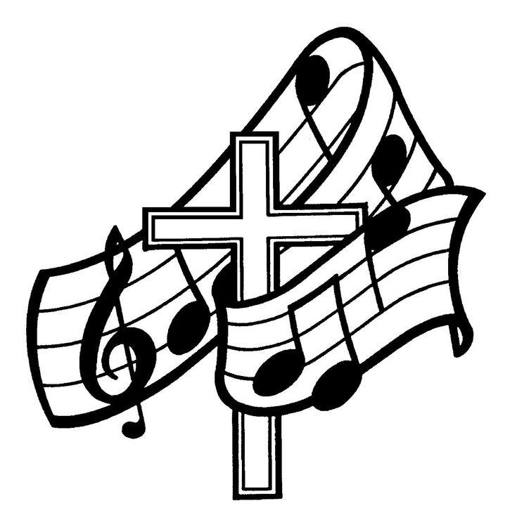 Choir clipart black and white.  best church clip
