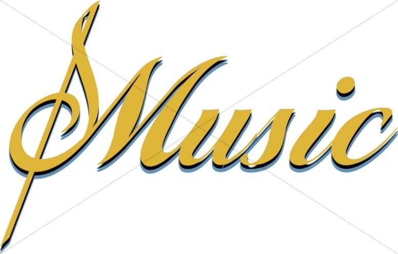 Church image graphic gold. Banners clipart music