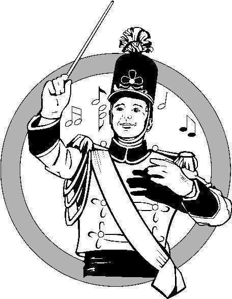 Marching silhouette at getdrawings. Band clipart band director