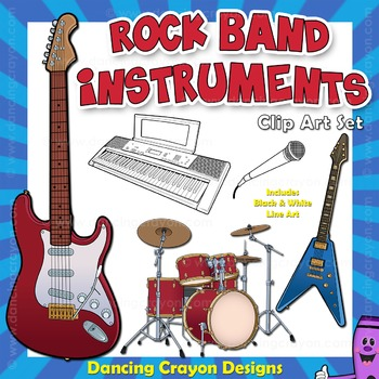 Band clipart band instrument. Musical instruments clip art