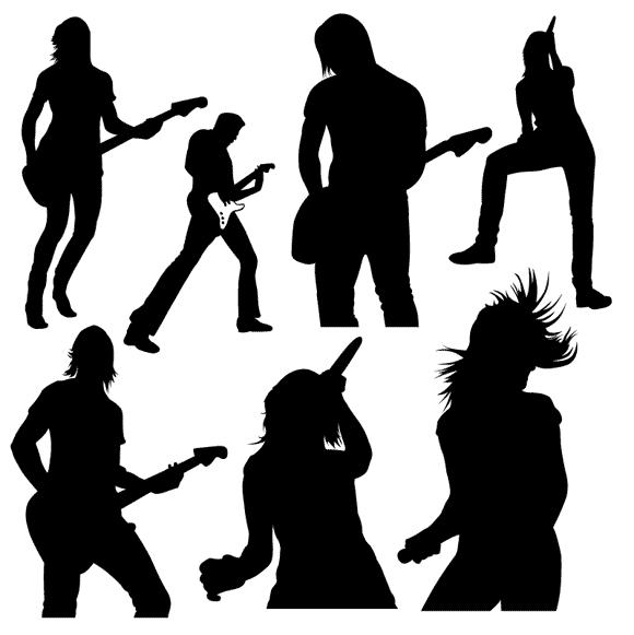 Band clipart band live. Girl rock clip art