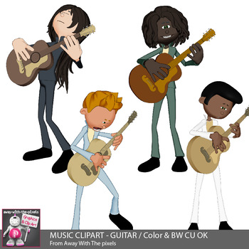 Musical clipart musician. Music guitar playing kids