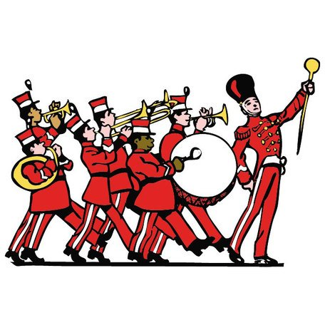 Marching silhouette at getdrawings. Band clipart band room