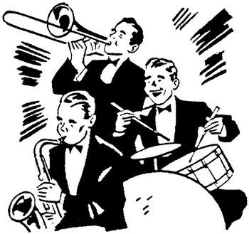 Jazz clipart swing band. Pinterest