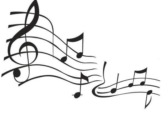 Clipart music. Notes black and white