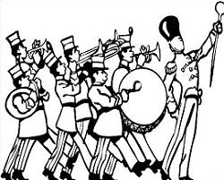 Band clipart black and white.  collection of marching