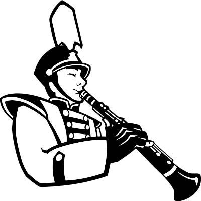 Band clipart black and white. Pics for marching amie
