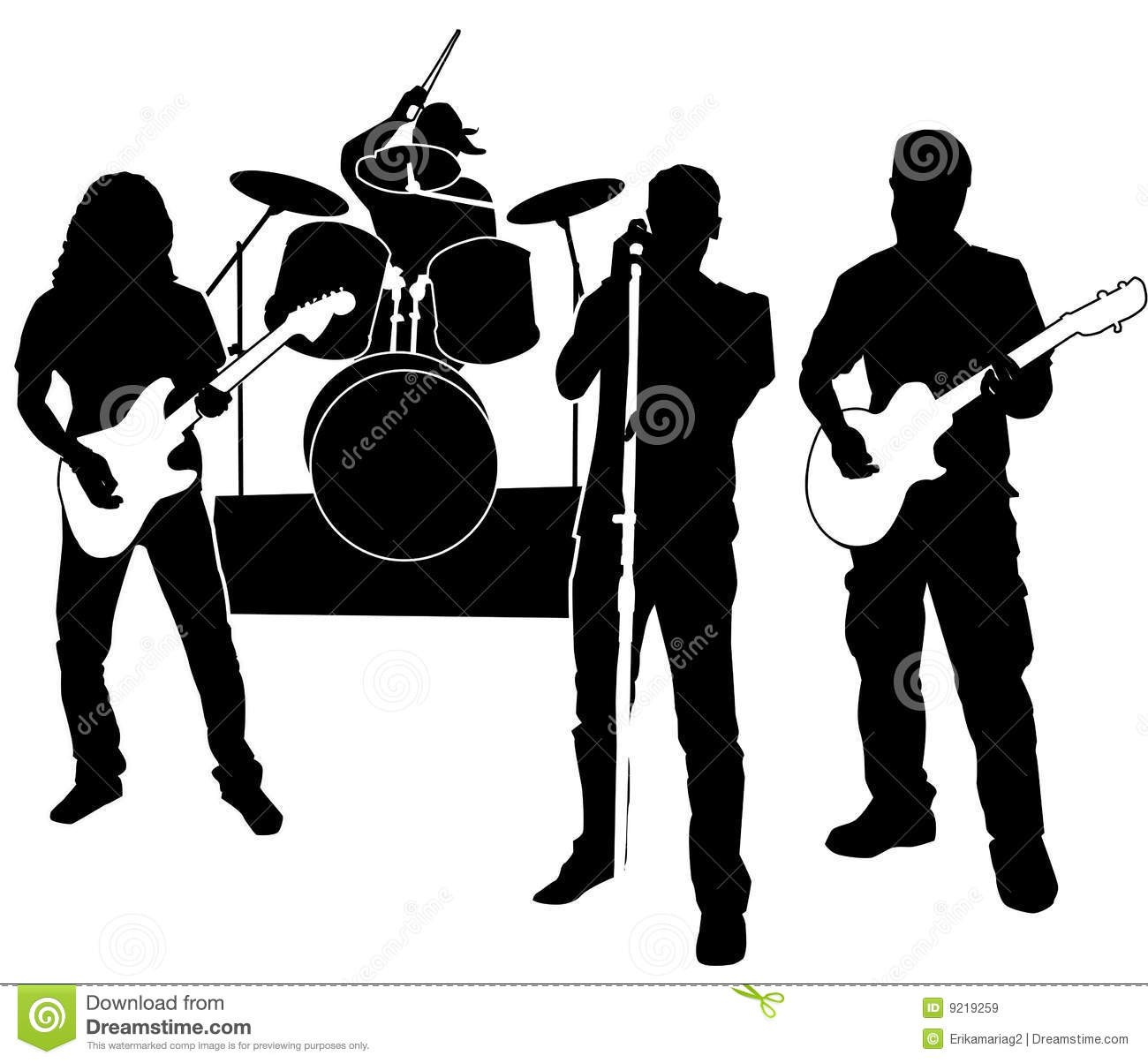 Rock portal . Band clipart black and white