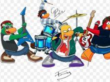 Band clipart cartoon. Rock group musicians illustration