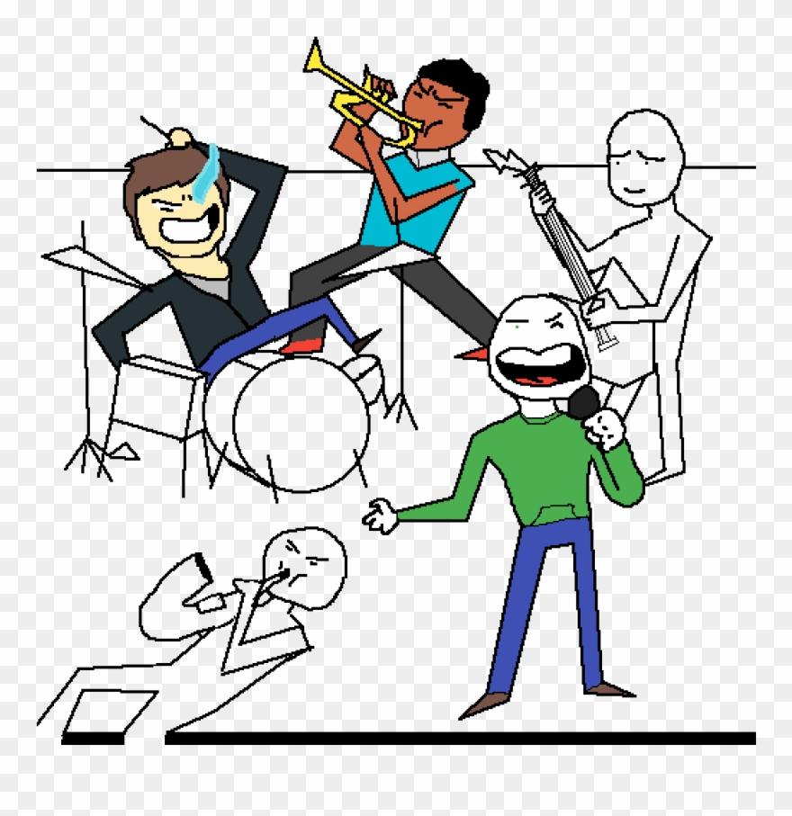 Collab pinclipart . Band clipart cartoon