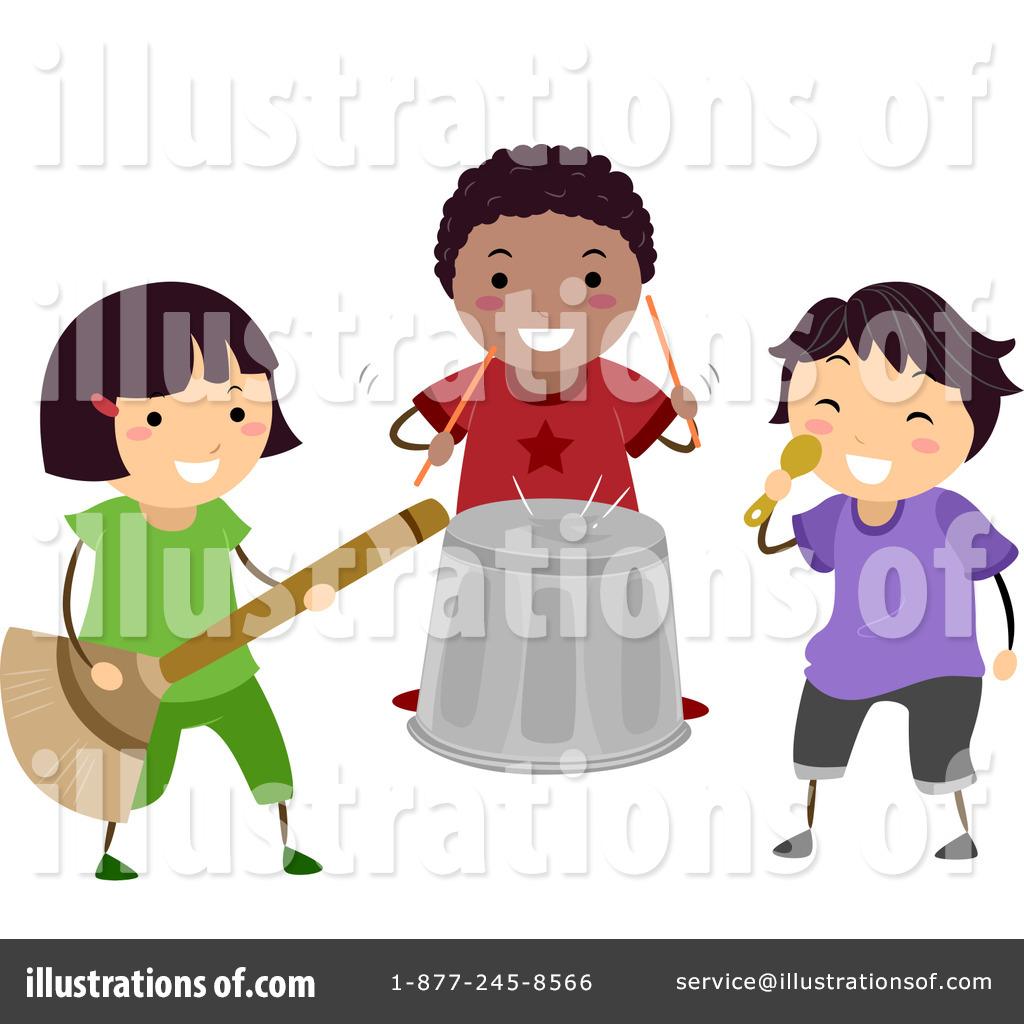 Band clipart children's. Childrens illustration by bnp