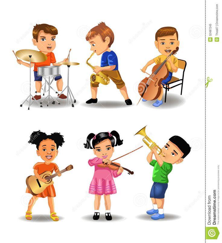 best musical instruments. Band clipart children's