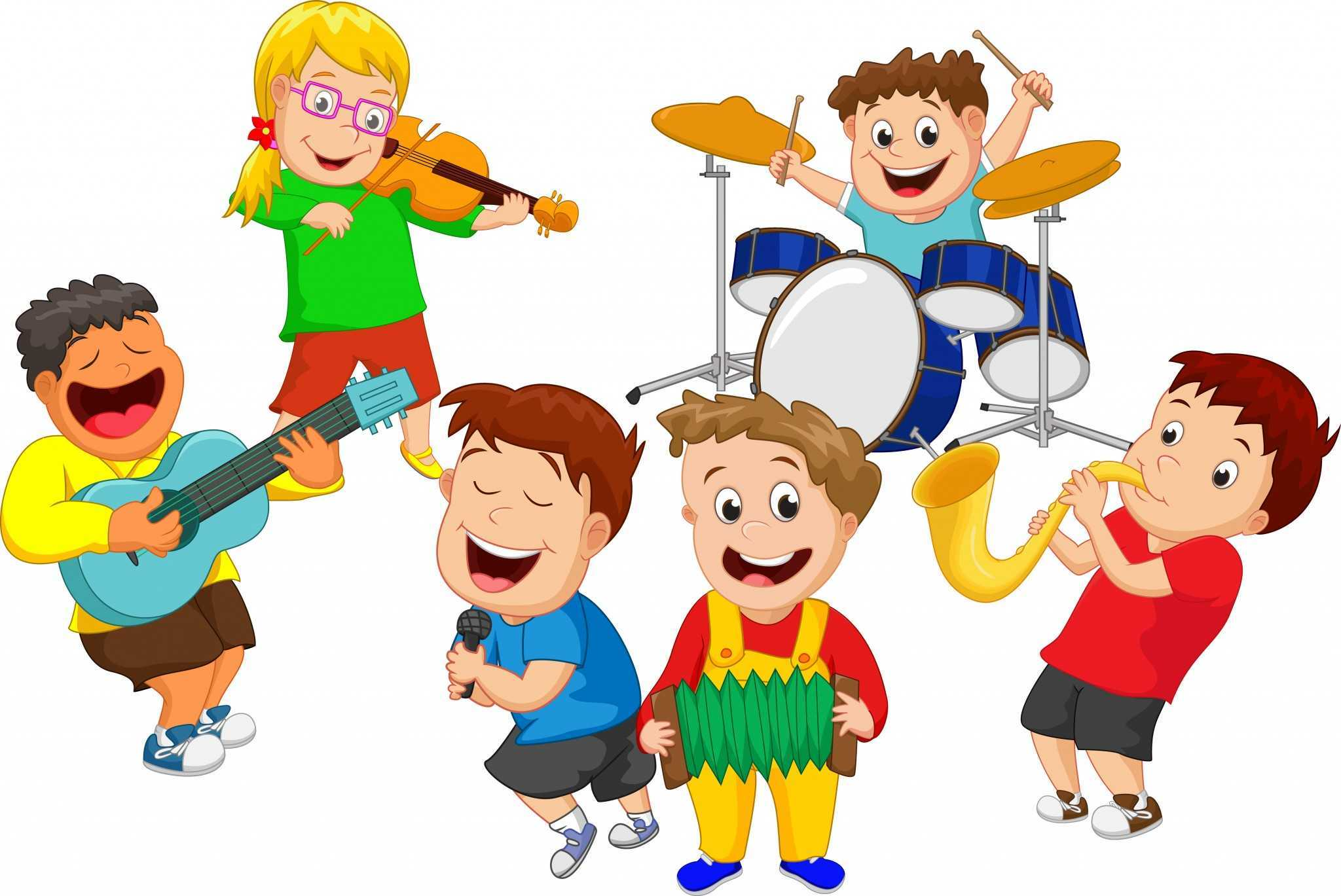 Five benefits of music. Band clipart children's