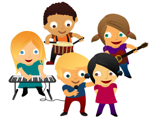 Kids playing music free. Band clipart children's