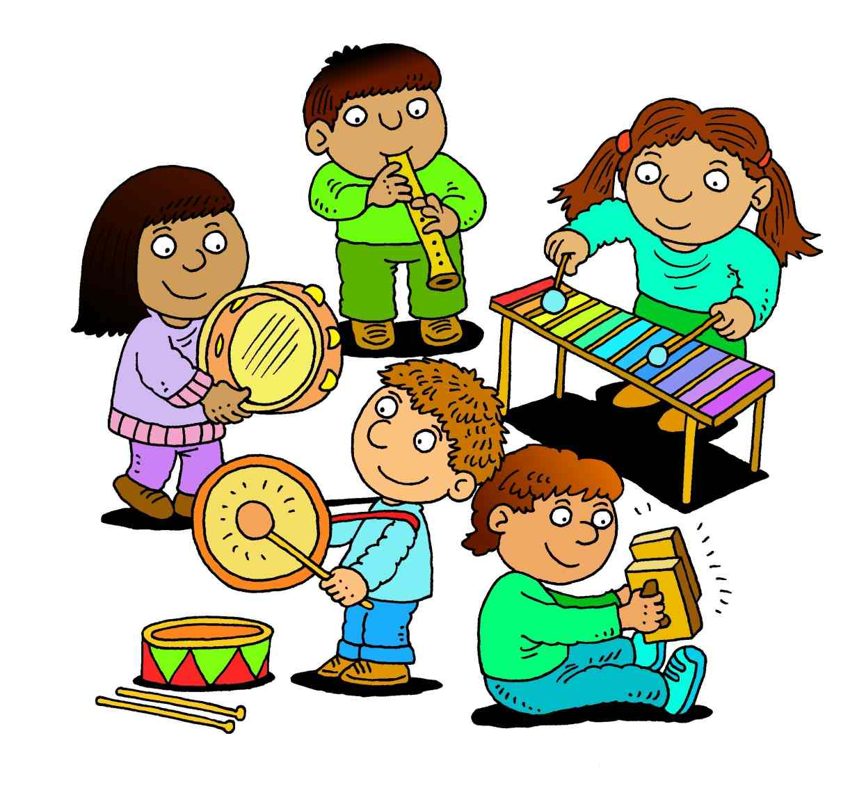 Band clipart children's. Free graphics baby in