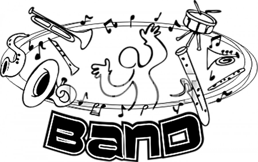 School music front auditions. Band clipart clip art