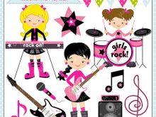Girl girls rock digital. Band clipart cute