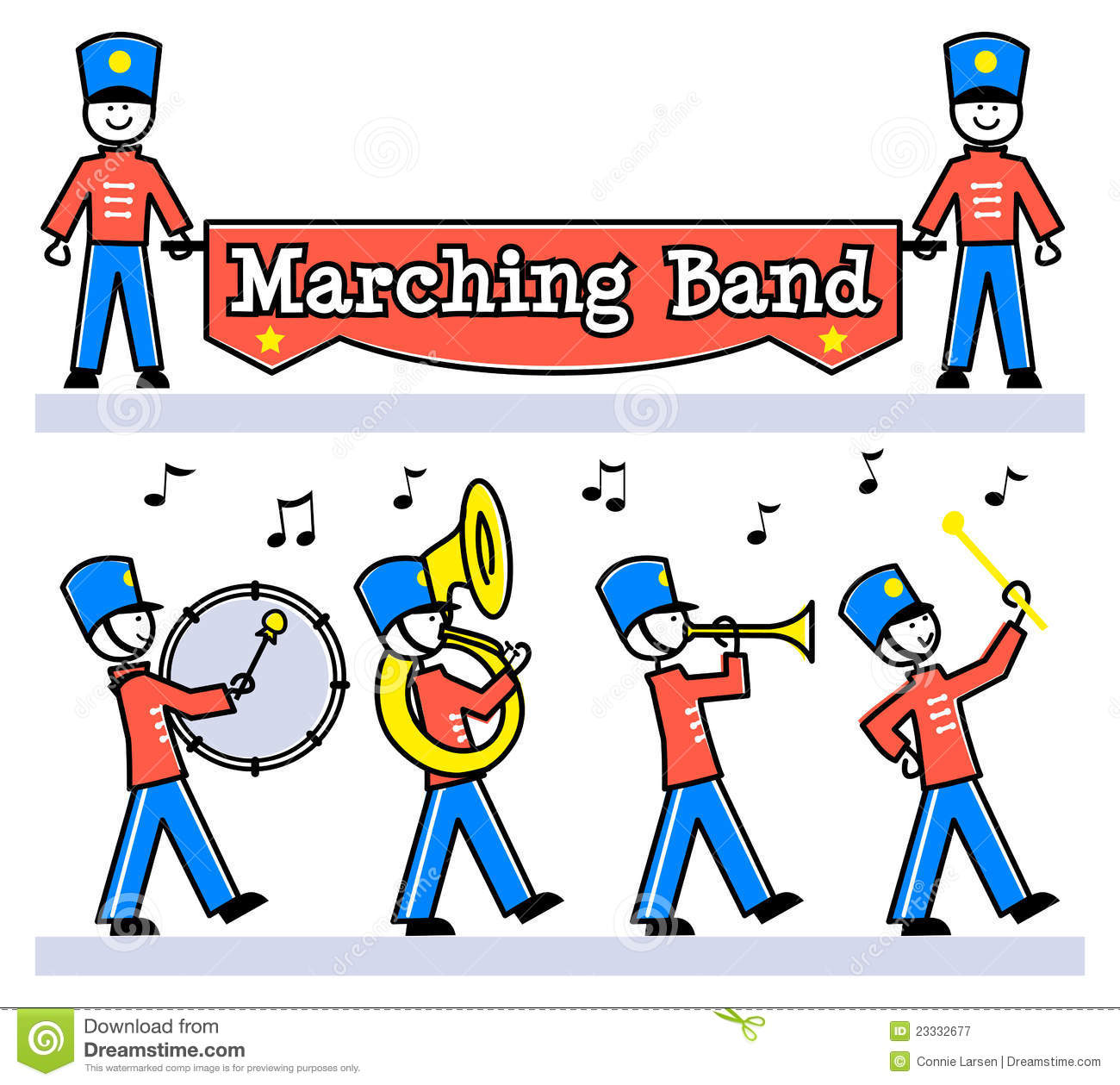 collection of marching. Band clipart cute
