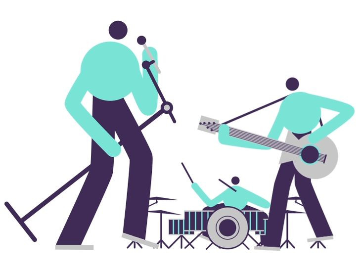 Band clipart cute. Rock meme and quote