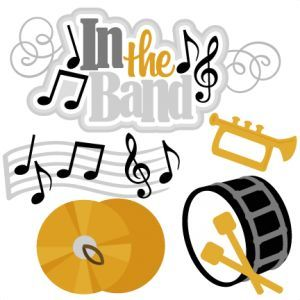 All svg collections miss. Band clipart cute