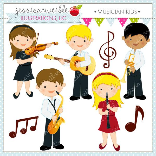 Musician kids digital commercial. Band clipart cute