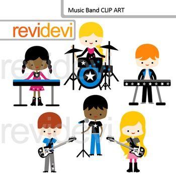 Band clipart cute. Music clip art kids