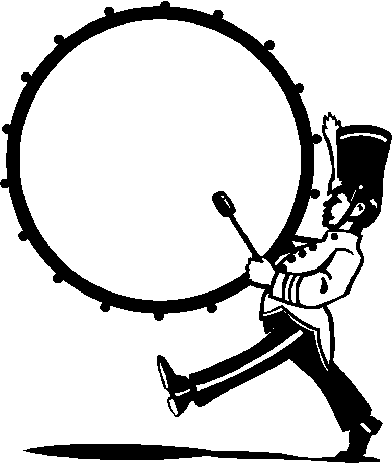 Marching band google search. Clarinet clipart sketch
