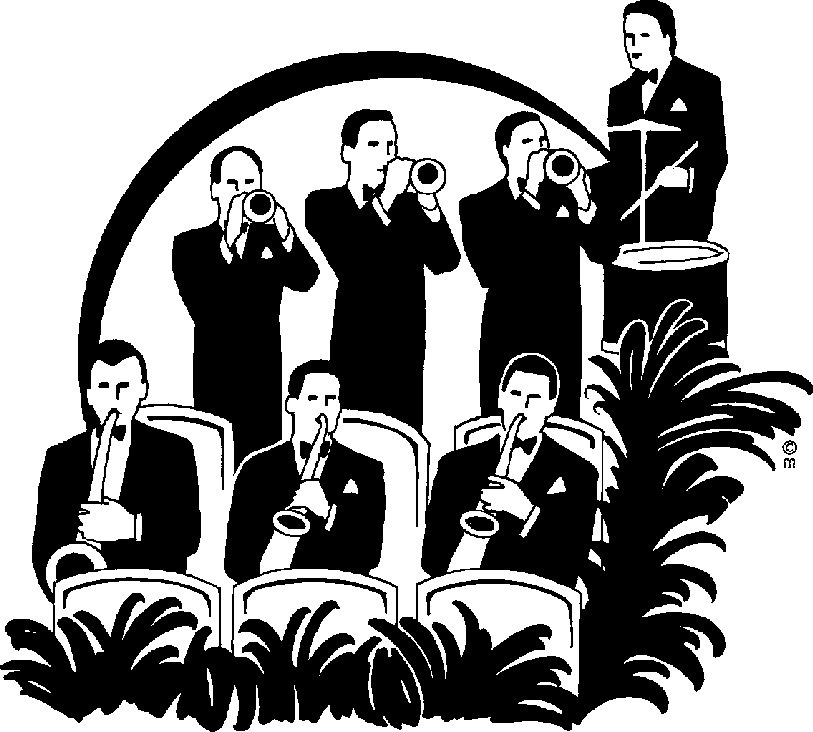 Types of musician jobs. Jazz clipart swing band