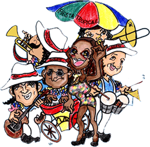 Latin calypso roving brisbane. Band clipart fiesta