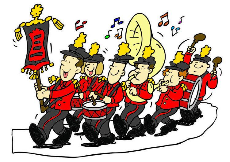 Marching borough of raritan. Parade clipart concert band