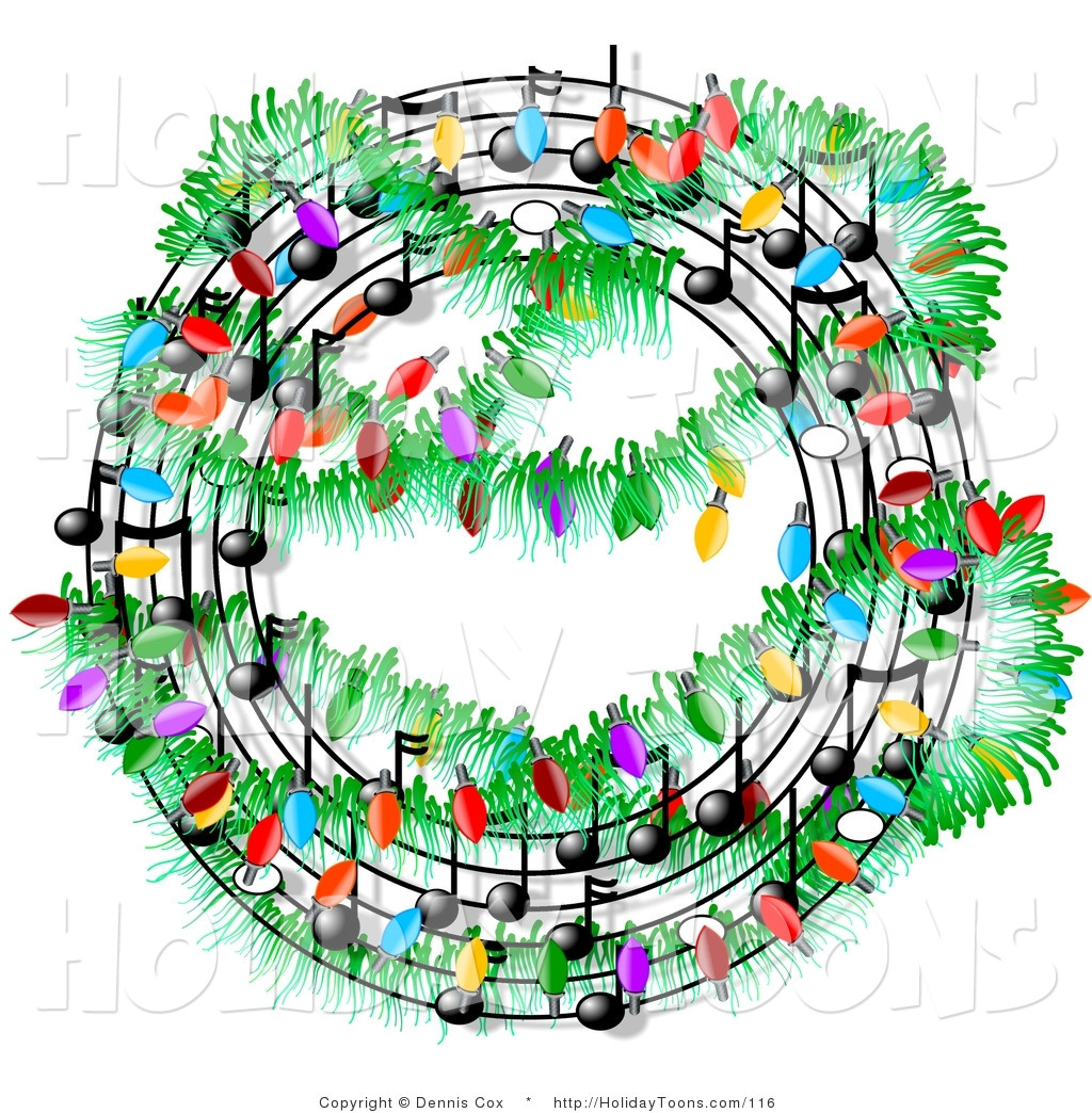 Caroling clipart christmas music notes.  collection of free