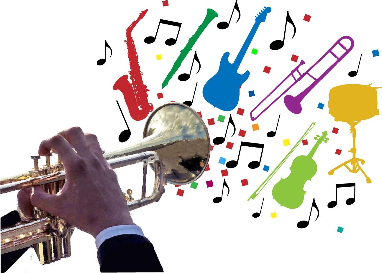 School band . Jazz clipart jazz instrument