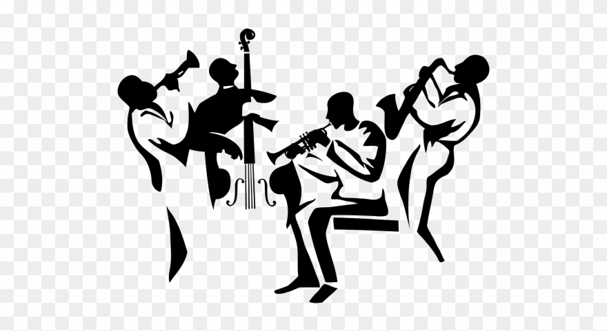 Jazz clipart jazz trio. Music silhouette wall poster