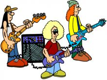 Google search or album. Band clipart kids rock