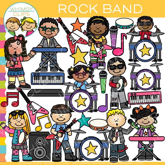 Band clipart kids rock. Clip art images illustrations