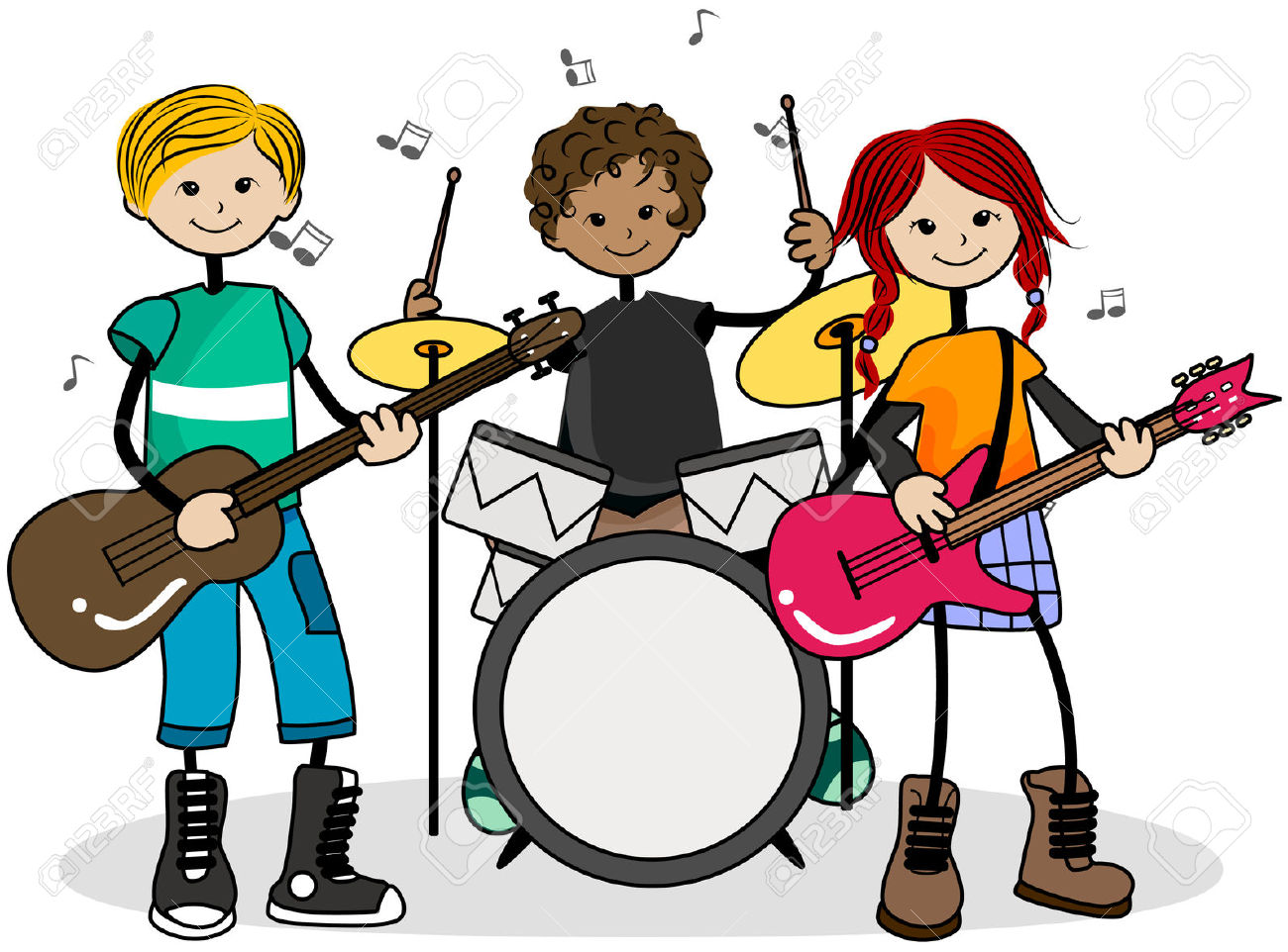 collection of high. Band clipart kids rock