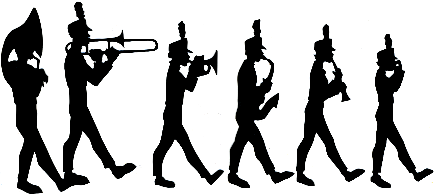Silhouette at getdrawings com. Band clipart marching band