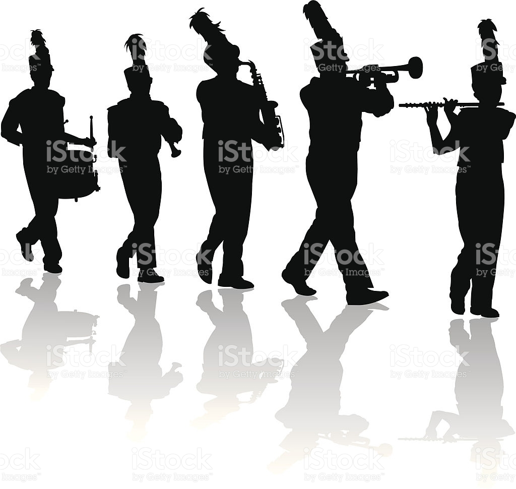 Unique collection digital i. Band clipart marching band